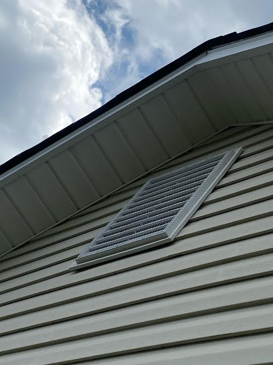 side view of Gable or Louver